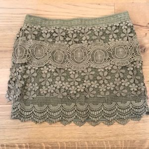 Free People boho mini skirt side zip size 6